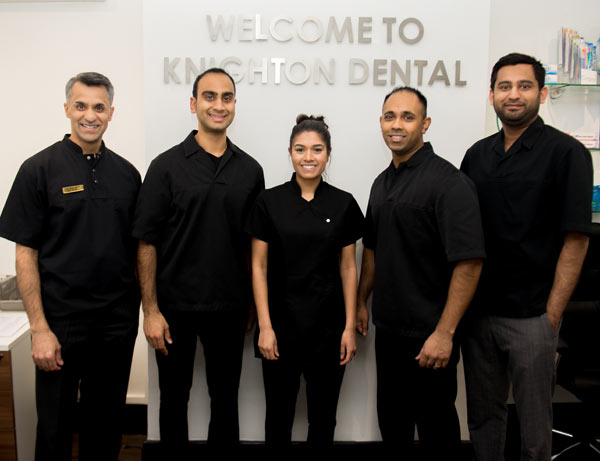 Team photo of staff at Knighton Dental Practice
